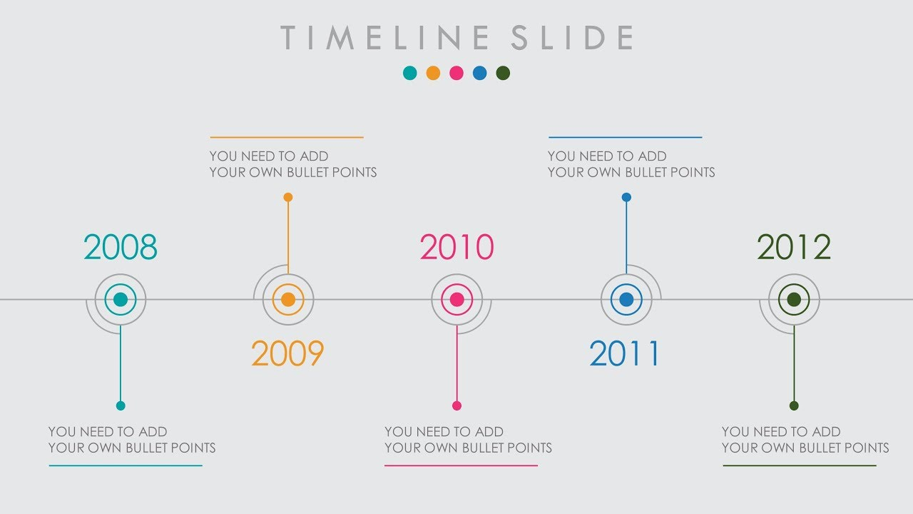 animated powerpoint timeline slide design tutorial youtube