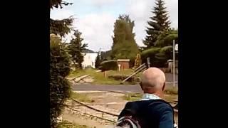 Arrivée à Tence du Train touristique Velay express