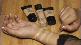 Maybelline Fit me! matte + Poreless foundation Review/Use How to apply Foundation in (urdu/hindi)