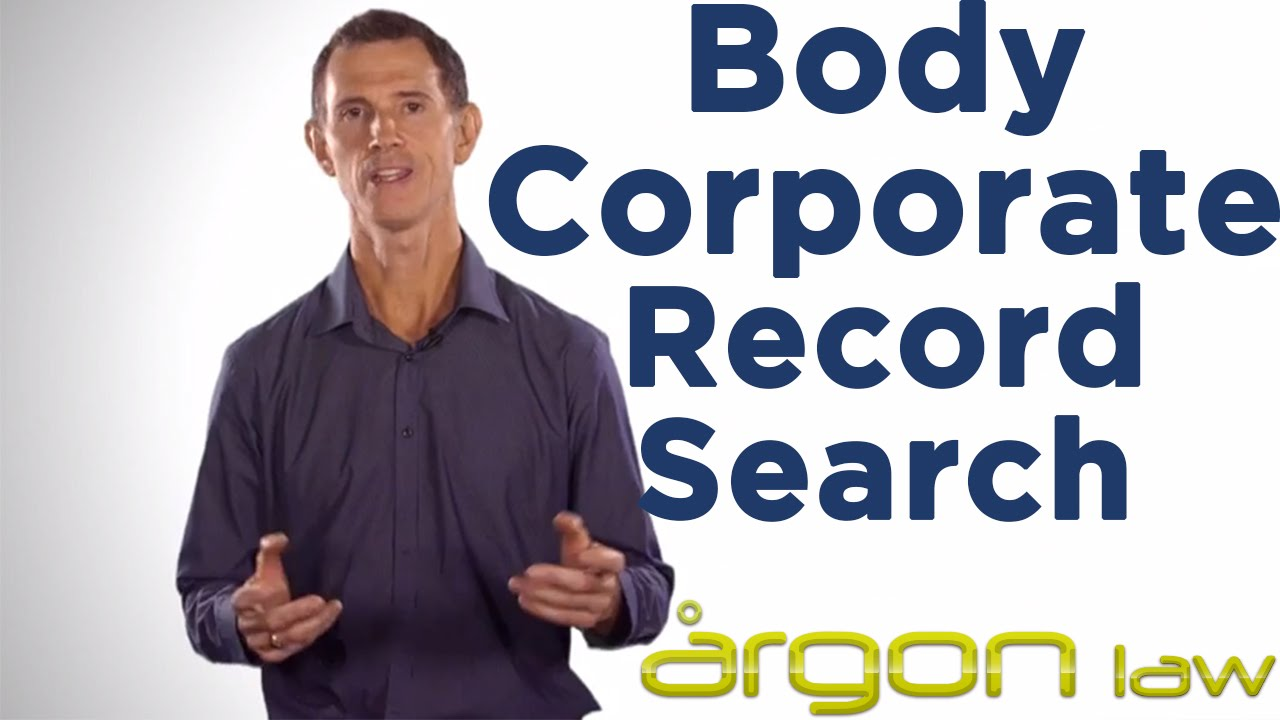 how to find out who your body corporate is