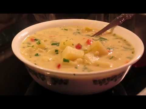 Roasted Red Bell Bepper & Potato Soup