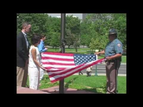Danny Dietz jr. The Lone Soldier - 2007 Flag Raising and Memorial Dedication