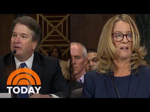 Brett Kavanaugh And Christine Blasey Ford Deliver Testimony In Senate Hearing  TODAY