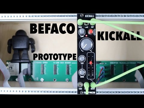Befaco Kickall (prototype) *FIRST PATCH* // mega beefy kick action!