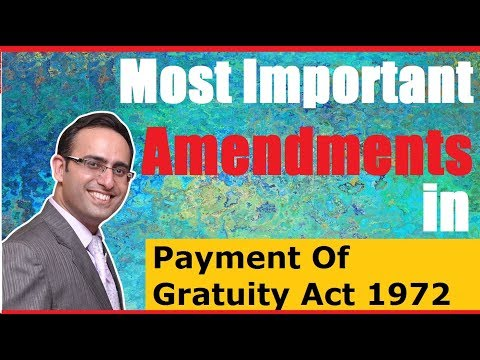 Payment of Gratuity Amendment Bill 2017