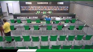 JETZT LIVE: Die PK vor dem Spiel   Karlsruher SC - Hannover 96
