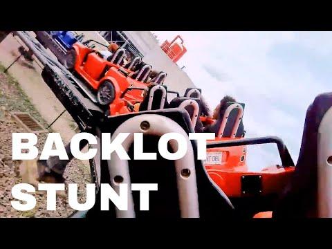 Backlot Stunt Coaster (HD POV) Kings Island - daVideo Glasses