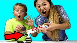 OREO TOOTHPASTE PRANK ON CARTER SHARER!!
