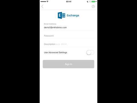 How to setup outlook exchange email on iphone