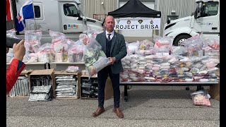 RECORD DRUG BUST IN TORONTO: Project Brisa arrests 20 people and seizes $61M in drugs