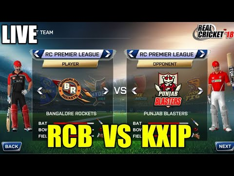 LIVE STREAMING RCB VS KXIP IPL T20 MATCH HARD MODE ON REAL CRICKET 18