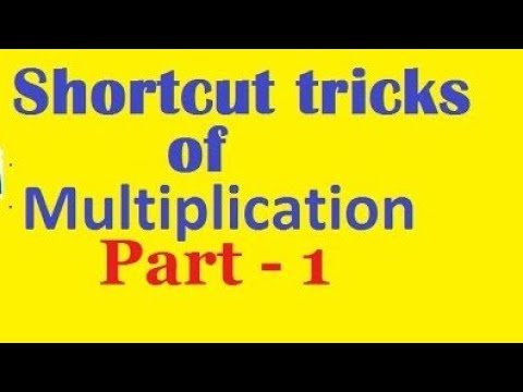 Shortcut tricks of multiplication part-1