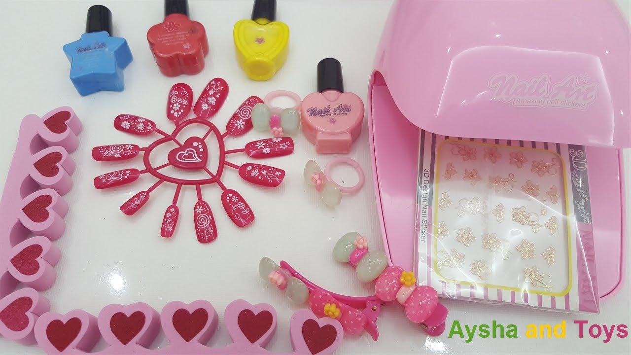 Nail Art Fashion Girl Nail Polish For Kids Amazing Naill Stickers