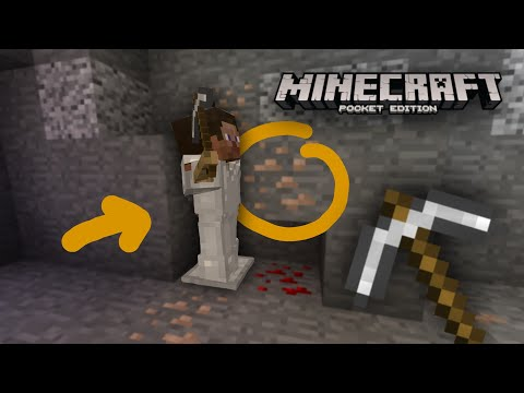 How To Make An Armor Stand Mining(Moving)-Minecraft PE/Win10/Xbox