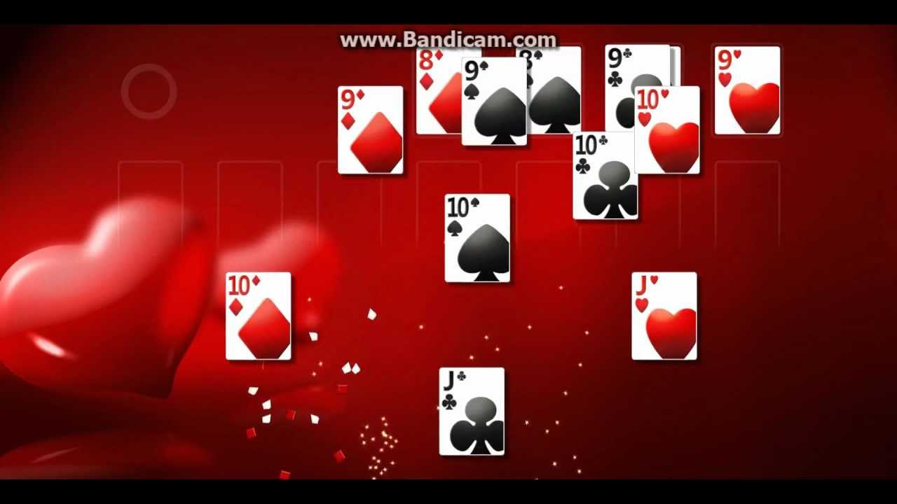windows 7 solitaire ending cool animation youtube
