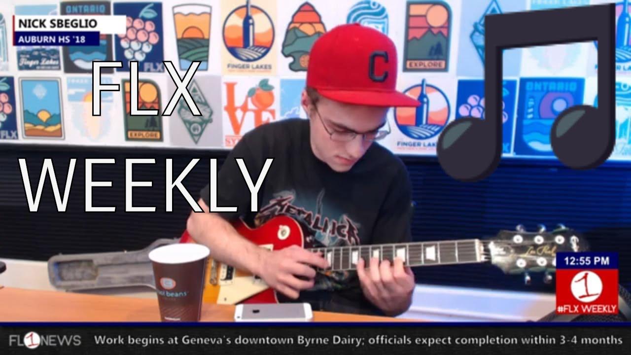 FLX WEEKLY:  Auburn guitar hero Nick Sbelgio in-studio (podcast)