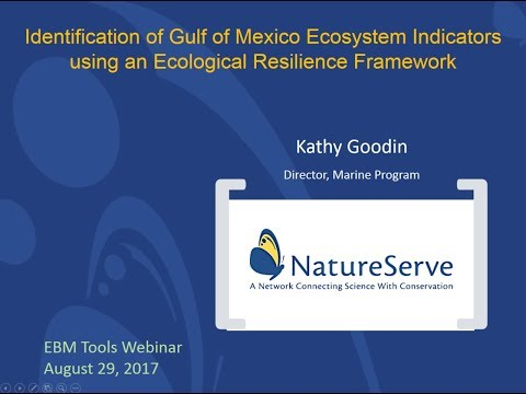 Identification of Gulf of Mexico Ecosystem Indicators using an Ecological Resilience Framework
