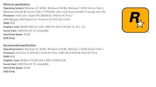 GTA 5 PC System Requirements and Specifications