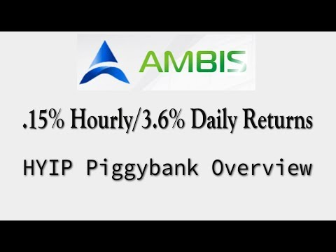 (NO LONGER PAYING)Investment Overview: Ambis [HYIP] .15% Hourly/3.6% Daily Returns - Payment Proof