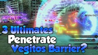 Can 3 Ultimates Penetrate Vegito's Force Shield? - Dragon Ball Xenoverse 2