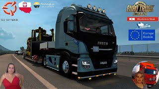 """Euro Truck Simulator 2 (1.38)   Iveco Hi-Way Reworked v2.9 [Schumi] [1.38] Heavy Delivery to Wroclaw Poland Revizsiting for v1.38 CAT Bulldozer Doll 3Axles Owned Trailer Version 8.0 by Roadhunter Animated gates in companies v3.7 [Schumi] Real Company Logo v1.0 [Schumi] Company addon v1.8 [Schumi] Trailers and Cargo Pack by Jazzycat Motorcycle Traffic Pack by Jazzycat FMOD ON and Open Windows Naturalux Graphics and Weather Spring Graphics/Weather v3.6 (1.38) by Grimes Test Gameplay ITA Europe Reskin v1.0 + DLC's & Mods https://forum.scssoft.com/viewtopic.php?f=35&t=203591  SCS Software News Iberian Peninsula Spain and Portugal Map DLC Planner...2020 https://www.youtube.com/watch?v=NtKeP0c8W5s Euro Truck Simulator 2 Iveco S-Way 2020 https://www.youtube.com/watch?v=980Xdbz-cms&t=56s Euro Truck Simulator 2 MAN TGX 2020 v0.5 by HBB Store https://www.youtube.com/watch?v=HTd79w_JN4E  #TruckAtHome #covid19italia Euro Truck Simulator 2    Road to the Black Sea (DLC)    Beyond the Baltic Sea (DLC)   Vive la France (DLC)    Scandinavia (DLC)    Bella Italia (DLC)   Special Transport (DLC)   Cargo Bundle (DLC)   Vive la France (DLC)    Bella Italia (DLC)    Baltic Sea (DLC) Iberia (DLC)   American Truck Simulator New Mexico (DLC) Oregon (DLC) Washington (DLC) Utah (DLC) Idaho (DLC) Colorado (DLC)     I love you my friends Sexy truck driver test and gameplay ITA  Support me please thanks Support me economically at the mail vanelli.isabella@gmail.com  Roadhunter Trailers Heavy Cargo  http://roadhunter-z3d.de.tl/ SCS Software Merchandise E-Shop https://eshop.scssoft.com/  Euro Truck Simulator 2 http://store.steampowered.com/app/227... SCS software blog  http://blog.scssoft.com/  Specifiche hardware del mio PC: Intel I5 6600k 3,5ghz Dissipatore Cooler Master RR-TX3E  32GB DDR4 Memoria Kingston hyperX Fury MSI GeForce GTX 1660 ARMOR OC 6GB GDDR5 Asus Maximus VIII Ranger Gaming Cooler master Gx750 SanDisk SSD PLUS 240GB  HDD WD Blue 3.5"""" 64mb SATA III 1TB Corsair Mid Tower Atx Carbid"""