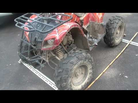 $50 2015 Coolster ATV, bent frame, seized front suspension, - YouTube