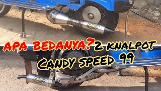 Review knalpot vespa racing CANDY SPEED 99