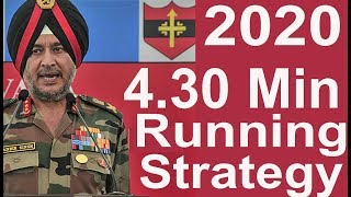 Indian Army Running 4.30 Min Strategy 2020 New Year, How to Run Fast & get Excellent Army running