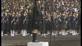 Japanese spirit. Japan's national anthem. High school girls sing. 【君が代/KIMIGAYO】