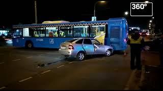 Один человек погиб в ДТП с автобусом на юге Москвы