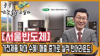 서울반도체,가전제품 확대 수혜! 매출 증가로 실적 턴어…