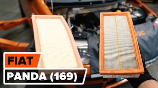How to change Air Filter on FIAT PANDA (169) - online free video