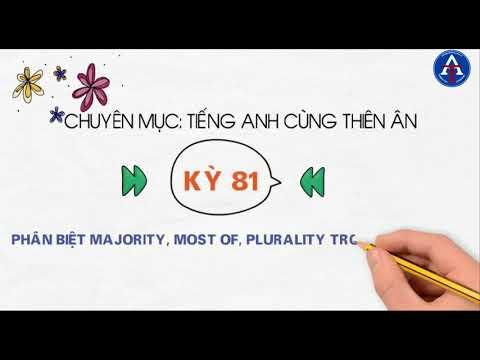 [TIẾNG ANH CÙNG THIÊN ÂN] - Kỳ 81 : Phân Biệt Most, Majority, Plurality