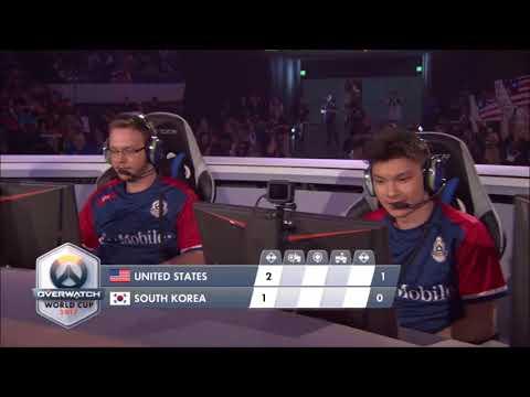 Overwatch World Cup 2017 | Quarterfinal | USA Vs South Korea | Part 1