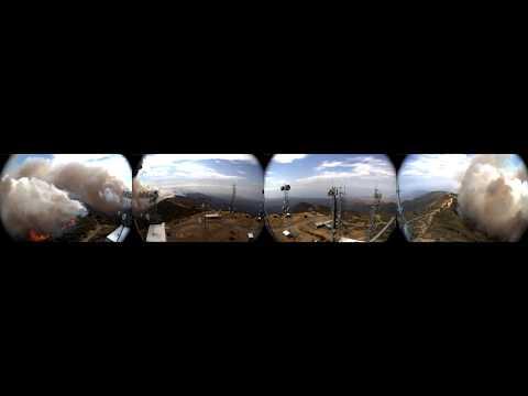 20170708 360 degree Santa Barbara Whittier Fire time-lapse