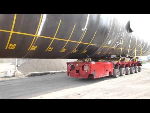 Titan Heavy Transport - SPMT 630t Monopile