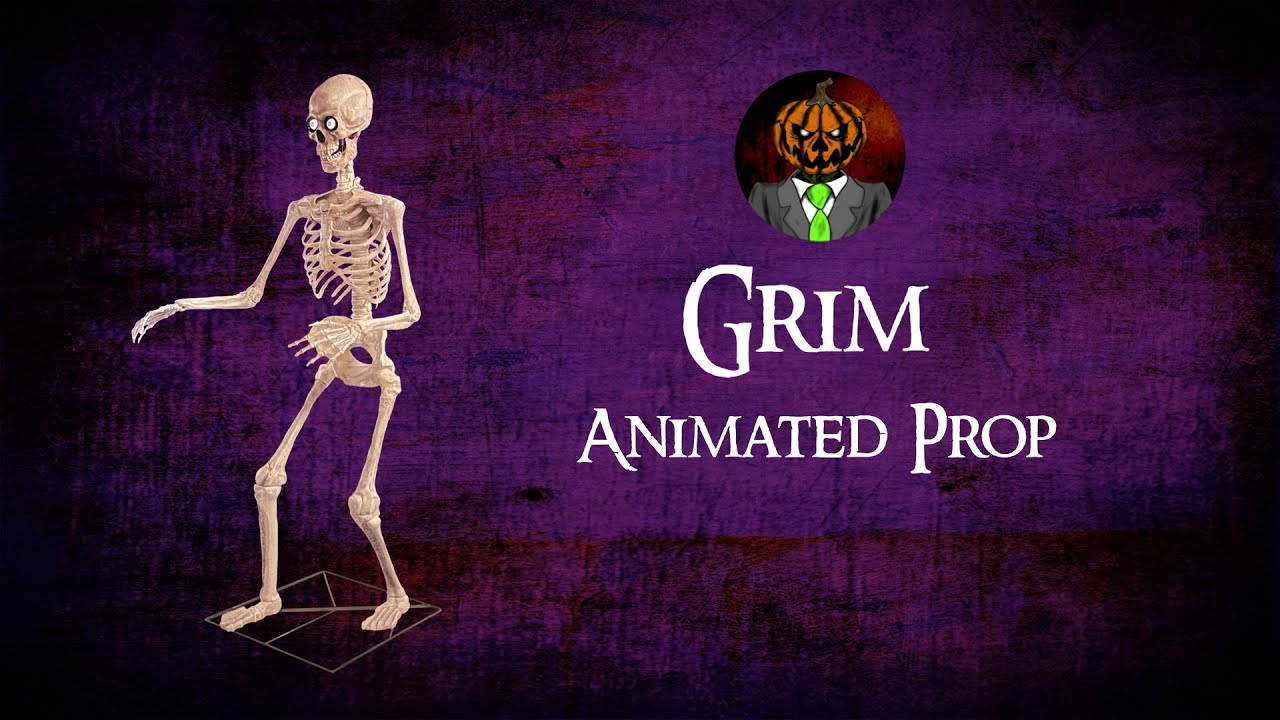 Grim Animated Prop Demo - Spirit Halloween 2021 Animatronic