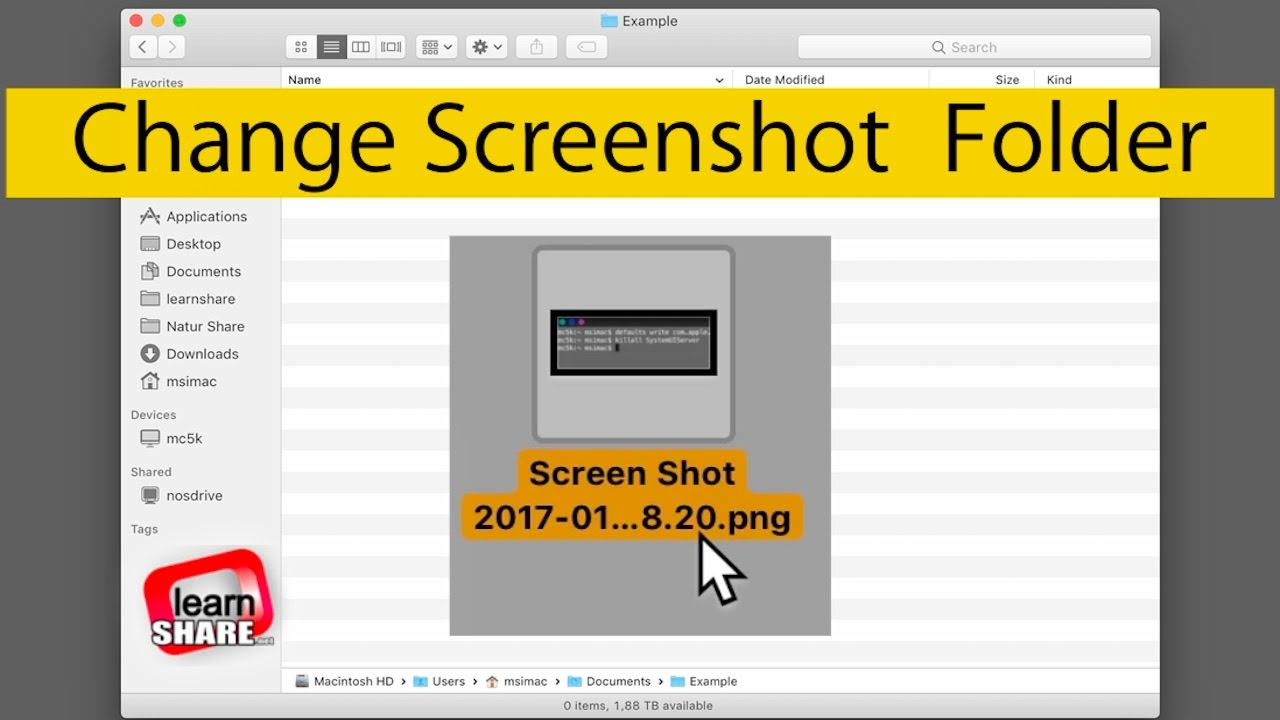 How To Change Screenshots Save Folder Location On Macos Screen Capture Print Screen Youtube
