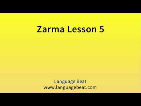 Learn Zarma   :  Lesson 5  -  Zarma  Phrases for Beginners