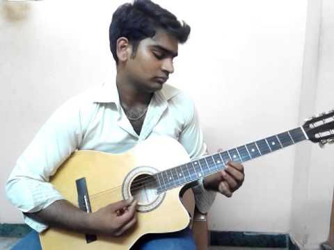 Dinesh playing guitar song4( Yaar intha salai oram pookal vaithathu )