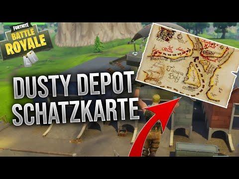 Schatzkarte von Dusty Depot in fortnite!!! AUFLÖSUNG
