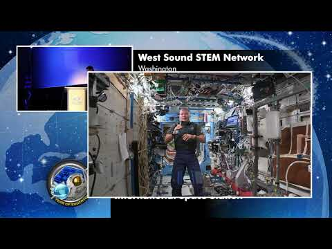 NASA Space Station Astronaut Discusses Life in Space with Washington State Students
