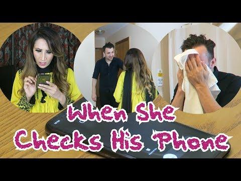 When She Checks His Phone | OZZY RAJA