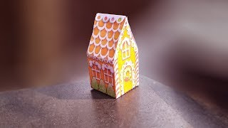How to make a Paper House | Beautiful and colourful christmas house