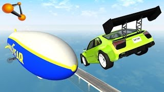 BeamNG.drive - Jumping In Airship High Speed Crashes