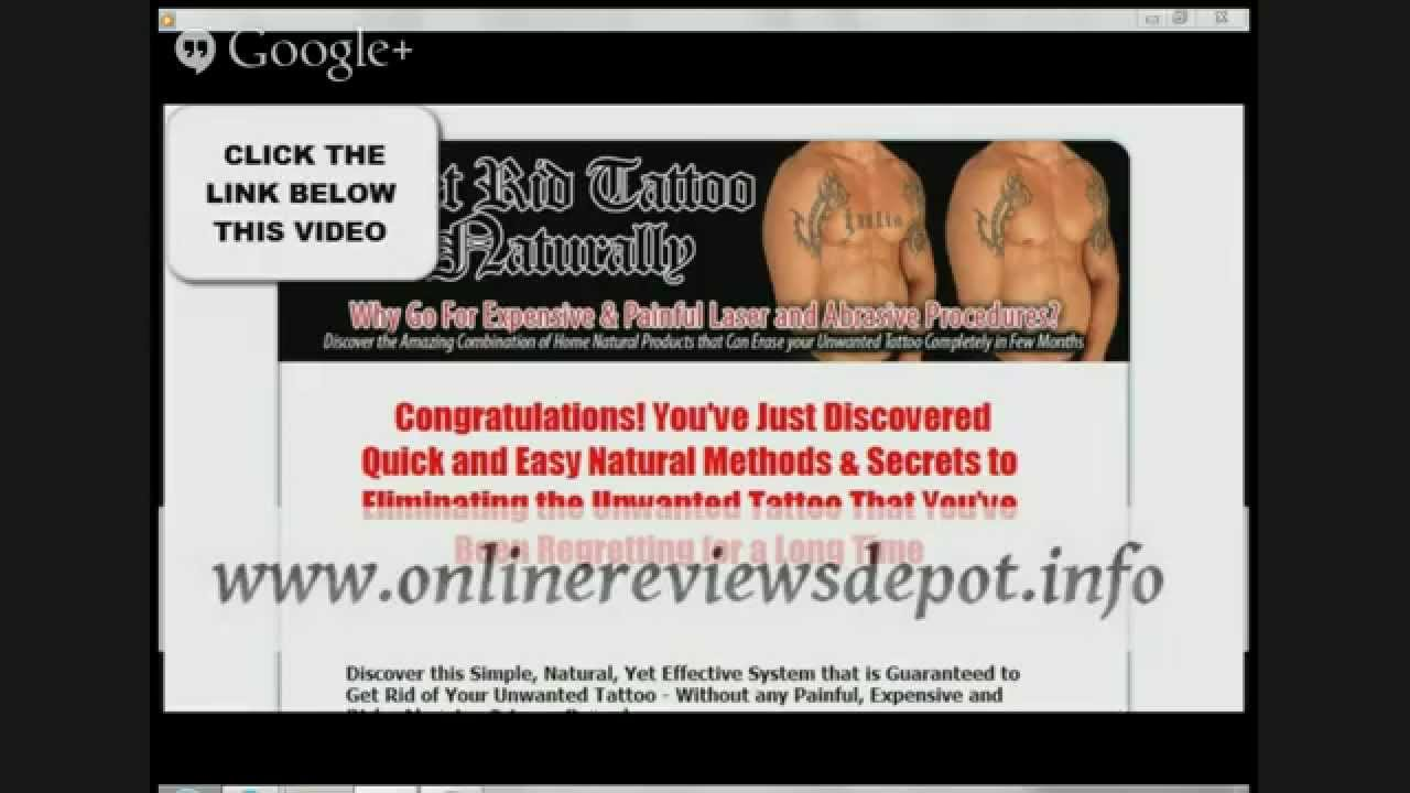 How to remove a tattoo at home without hurting you for I want to remove my tattoo at home