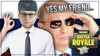 JE ME FAIS PASSER POUR UN RUSSE ! 💂 (Fortnite Battle Royale)