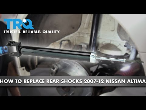 How to Replace Rear Shocks 07-12 Nissan Altima