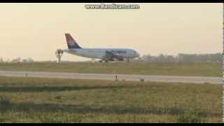 A319 AirSerbia Nis Airport