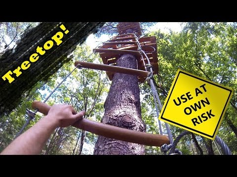 Climbing in the Trees - Canada's highest tree obstacle course
